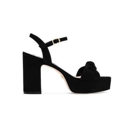 Mirri: Black Platform Sandals - Plus Size Heels | Size 13 Heels