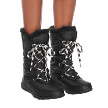 Load image into Gallery viewer, Whitney Tall Lace II boots - Plus Size Heels | Size 12 Heels