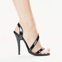 Black Cross Strap High Heel Sandals - Plus Size Heels | Size 16 Heels