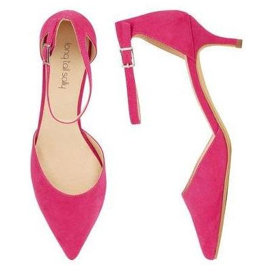 9c28ae6e78a Pink Minni Ankle Strap Kitten Heel | Also Available in Black