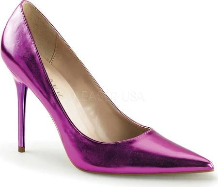 Metallic Purple Classic Pumps - Plus Size Heels | Size 11 Heels | Size 12 Heels