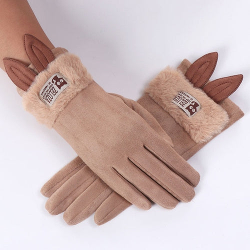 Rabbit Ear Fleece Gloves