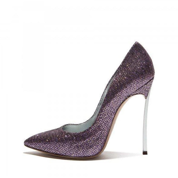 1a652a7825ec Purple Sparkly Glitter Shoes Pointy Toe Stiletto Heels Pumps – Plus ...