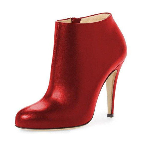 61730c77136 Red Heeled Boots 4 Inches Heels Casual Comfy Shoes – Plus Size Heels