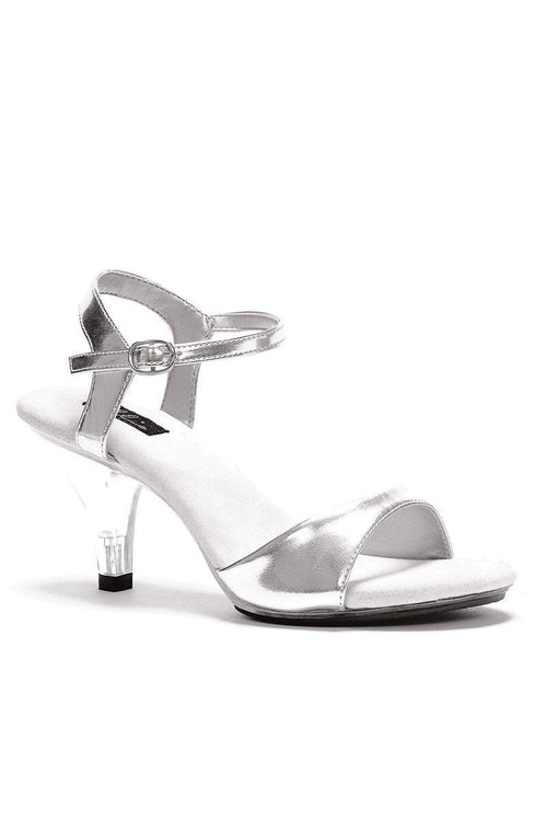 ea0ddbef2a7 Sexy Silver Clear Open Toe Single Sole Chunky Heels Patent - Plus Size Heels
