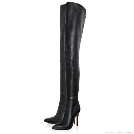 Black Ballet Style Knee High Boots