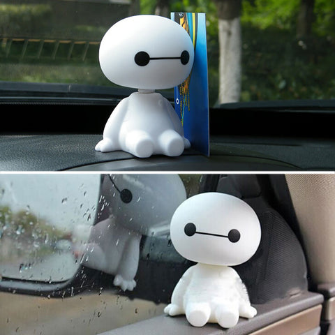 Cartoon Plastic Baymax Robot Shaking Head Figure