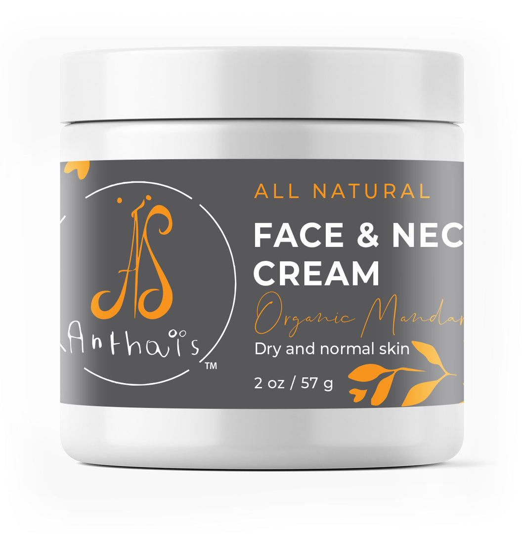 Natural face and neck cream 'Organic mandarin'