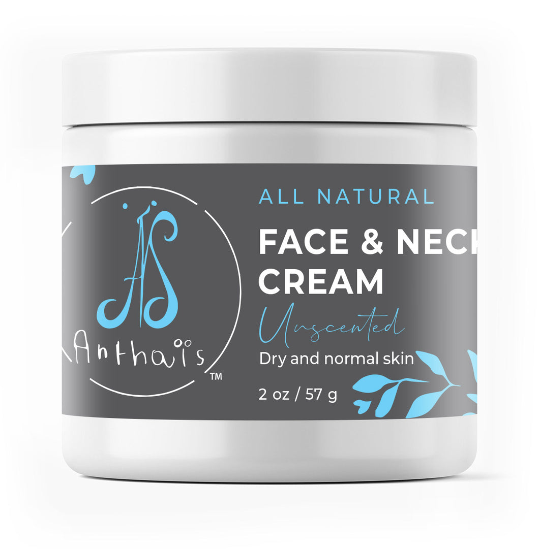 Natural face and neck cream 'Unscented'