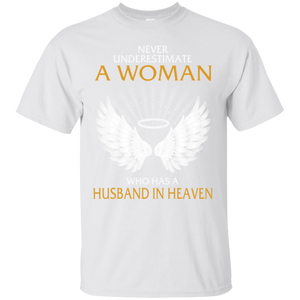 Husband Never Underestimate Who Have A Husband In Heaven  Hoodies Sweatshirts