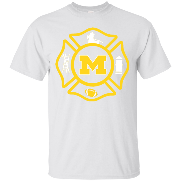 Michigan Wolverines Firefighter Maltese Cross  Hoodies Sweatshirts