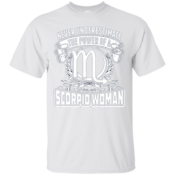 Never Underestimate The Power Of A Scorpio Woman T shirts  Hoodies, Sweatshirts
