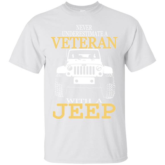 Never Underestimate A Veteran With A Jeep T shirts  Hoodies, Sweatshirts