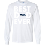 Best Dad Ever Father s Day Seattle Seahawks  Hoodies Sweatshirts