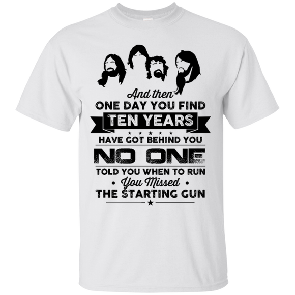 Starting Gun Shirts Ten Years Behind No One Told Run Starting Gun  Hoodies Sweatshirts