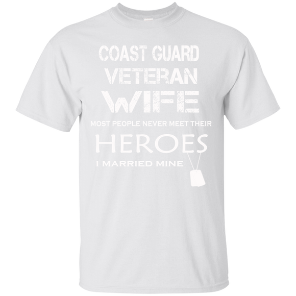 I Married My Hero Coast Guard Veteran Wife T shirts  Hoodies, Sweatshirts