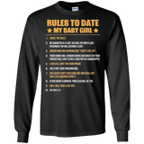 Baby Girl Rules To Date My Baby Girl  Hoodies Sweatshirts