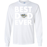 Best Dad Ever Father s Day Nashville Predators  Hoodies Sweatshirts