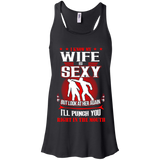 Look At Her Again I'll Punch You Right In The Mouth I Know My Wife Is Sexy T shirts  Hoodies, Sweatshirts