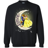 Beaty And The Beast I Love You To The Moon And Back  Hoodies Sweatshirts