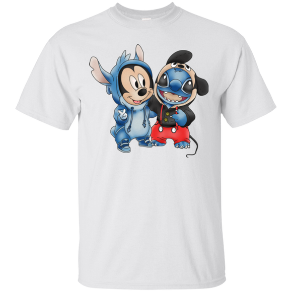 Disney Stitch And Mickey Mouse  Hoodies Sweatshirts
