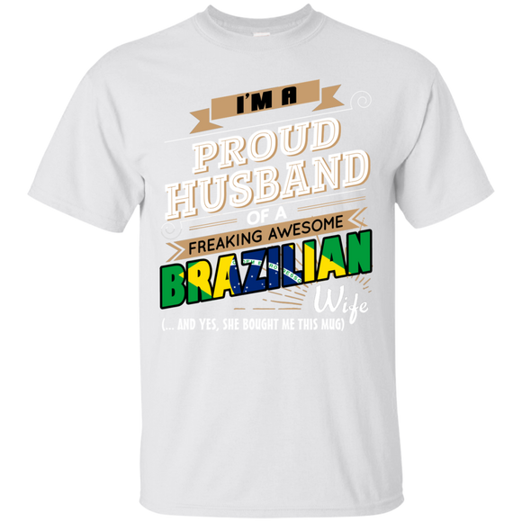 I'm A Proud Husband Of A Freaking Awesome Brazilian Wife T shirts  Hoodies, Sweatshirts