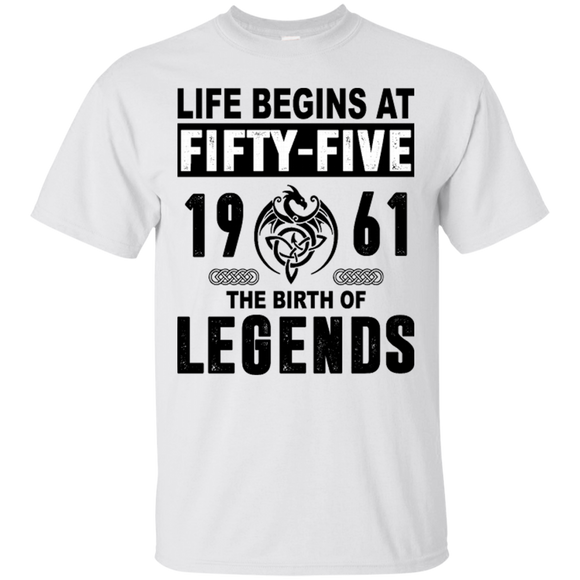 1961 Shirts Life Begins At Fifty Five  Hoodies Sweatshirts