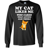 Animal Lovers My Cat Likes Me Who Cares What Anyone Else Thinks  Hoodies Sweatshirts
