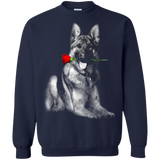 Animal Lover Dog And  Rose  Hoodies Sweatshirts