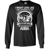 Abba I Might Look Like I Am Listening To You   Hoodies Sweatshirts
