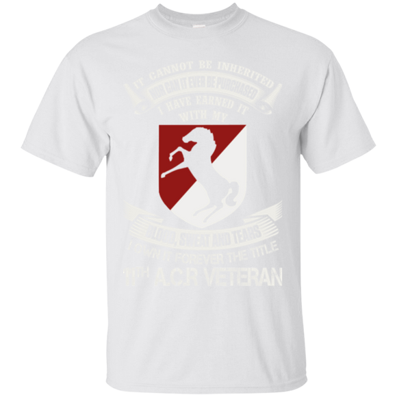 11th Armored Cavalry Regiment Veteran Shirts Blood Sweat Own Title 11th A.C.R Veteran  Hoodies Sweatshirts