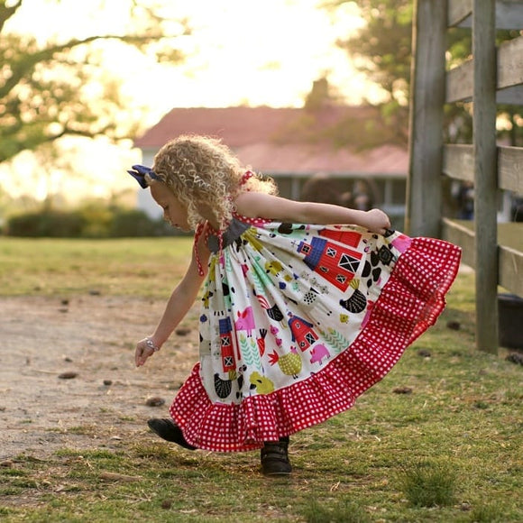 Farm Life Ruffle Dress