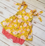 Rainy Day Skirted Romper *Rain Boot Yellow*
