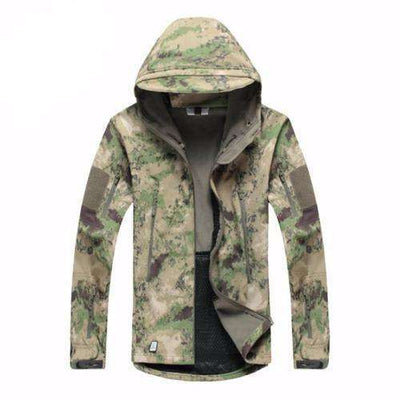 Army Camouflage Waterproof Jacket Atac Fg / Xs Jackets