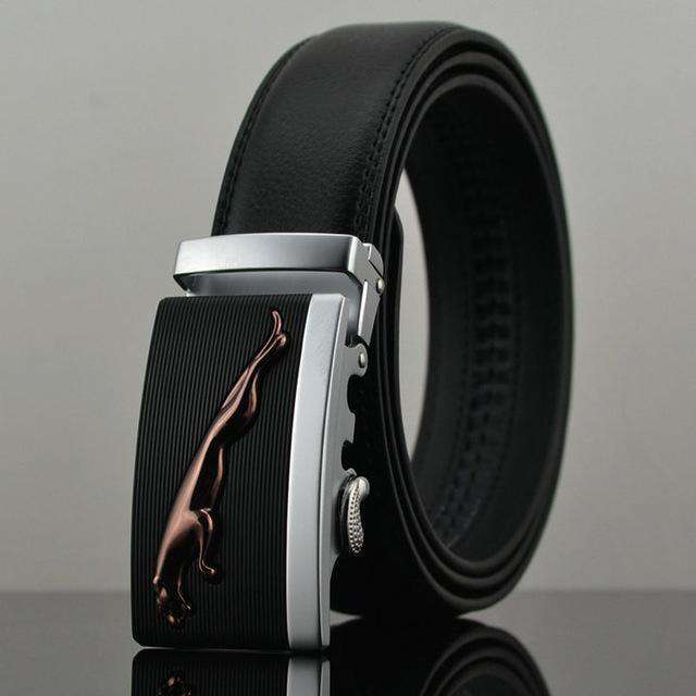 Automatic Buckle Leather Luxury Belts A / 110Cm Belts