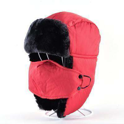 Aviator Snow Bomber Hat Red Hats