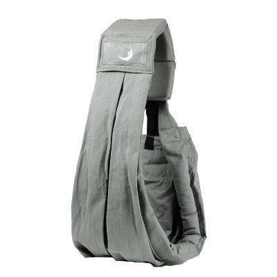 Babasling Carrier Suspender Cotton Breathable Infant Carrier Adjustable Grey