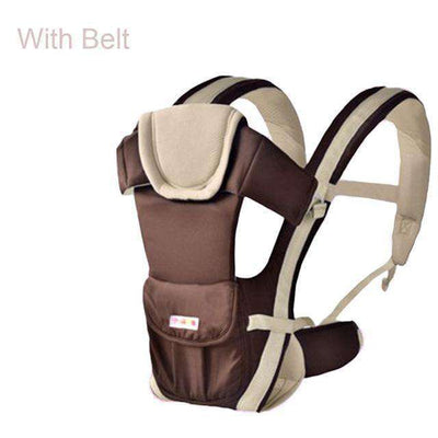 Baby Carrier Multifunctional Front Facing Baby Carrier Khaki With Belt / Onesize