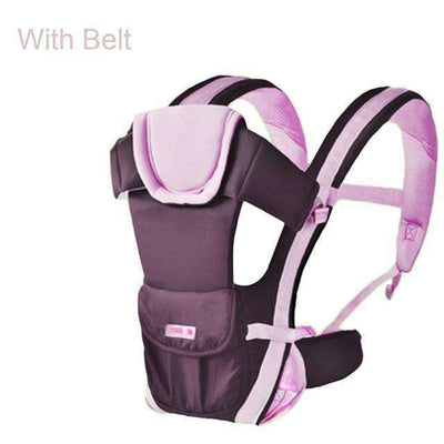 Baby Carrier Multifunctional Front Facing Baby Carrier Pink With Belt / Onesize