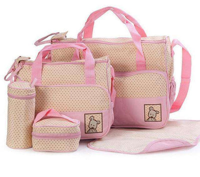 Baby Diaper Bag Suits For Mom Baby Bottle Pink