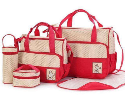 Baby Diaper Bag Suits For Mom Baby Bottle Red