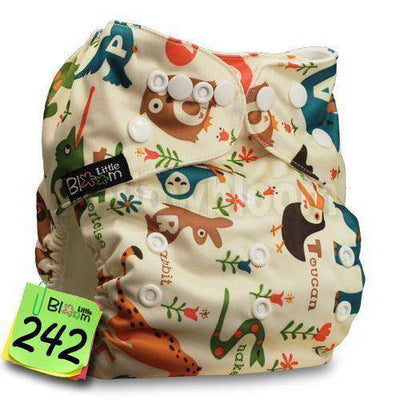 Baby Washable Reusable Real Cloth Pocket Nappy 242 / Onesize No Insert