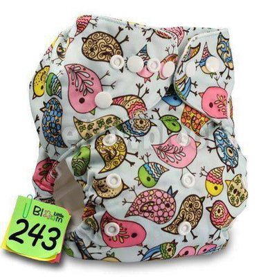 Baby Washable Reusable Real Cloth Pocket Nappy 243 / Onesize No Insert