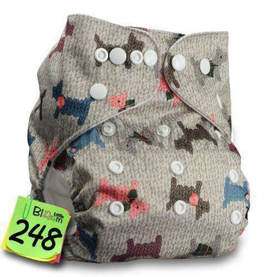 Baby Washable Reusable Real Cloth Pocket Nappy 248 / Onesize No Insert