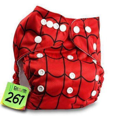 Baby Washable Reusable Real Cloth Pocket Nappy 261 / Onesize No Insert