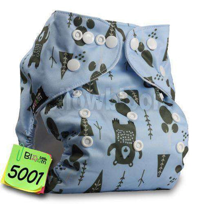 Baby Washable Reusable Real Cloth Pocket Nappy 5001 / Onesize No Insert