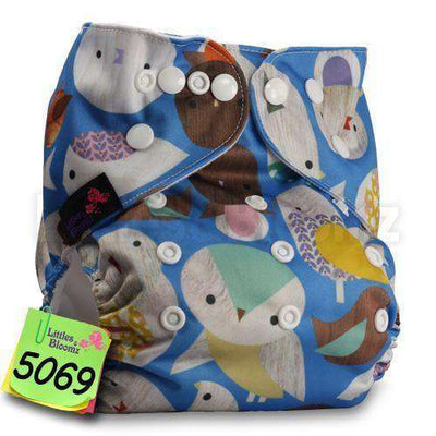 Baby Washable Reusable Real Cloth Pocket Nappy 5069 / Onesize No Insert