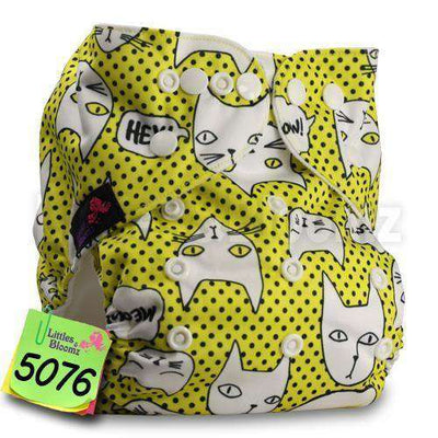 Baby Washable Reusable Real Cloth Pocket Nappy 5076 / Onesize No Insert