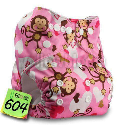 Baby Washable Reusable Real Cloth Pocket Nappy 604 / Onesize No Insert