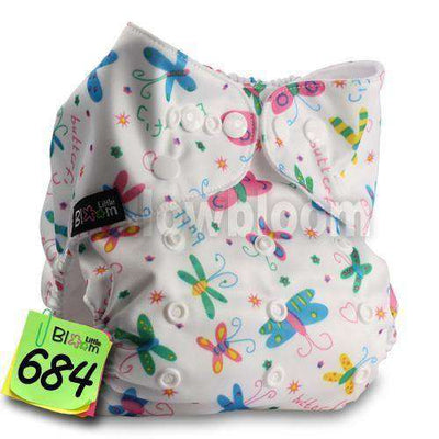 Baby Washable Reusable Real Cloth Pocket Nappy 684 / Onesize No Insert
